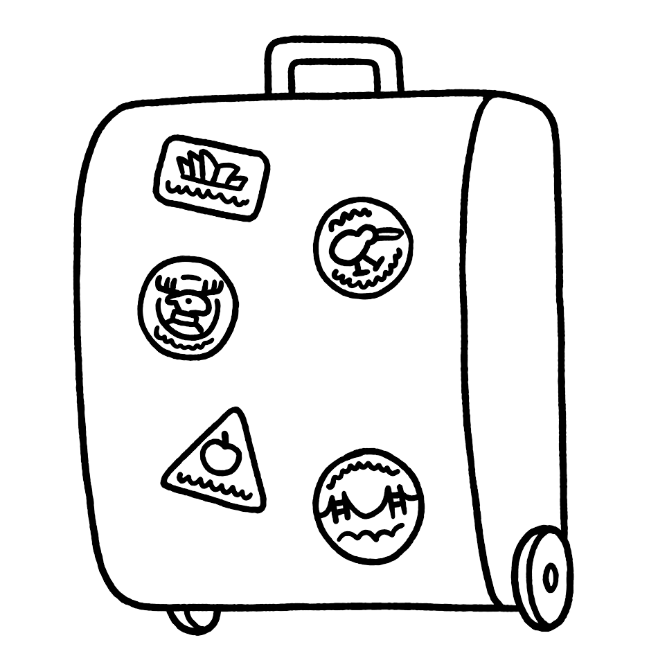 Suitcase illustration