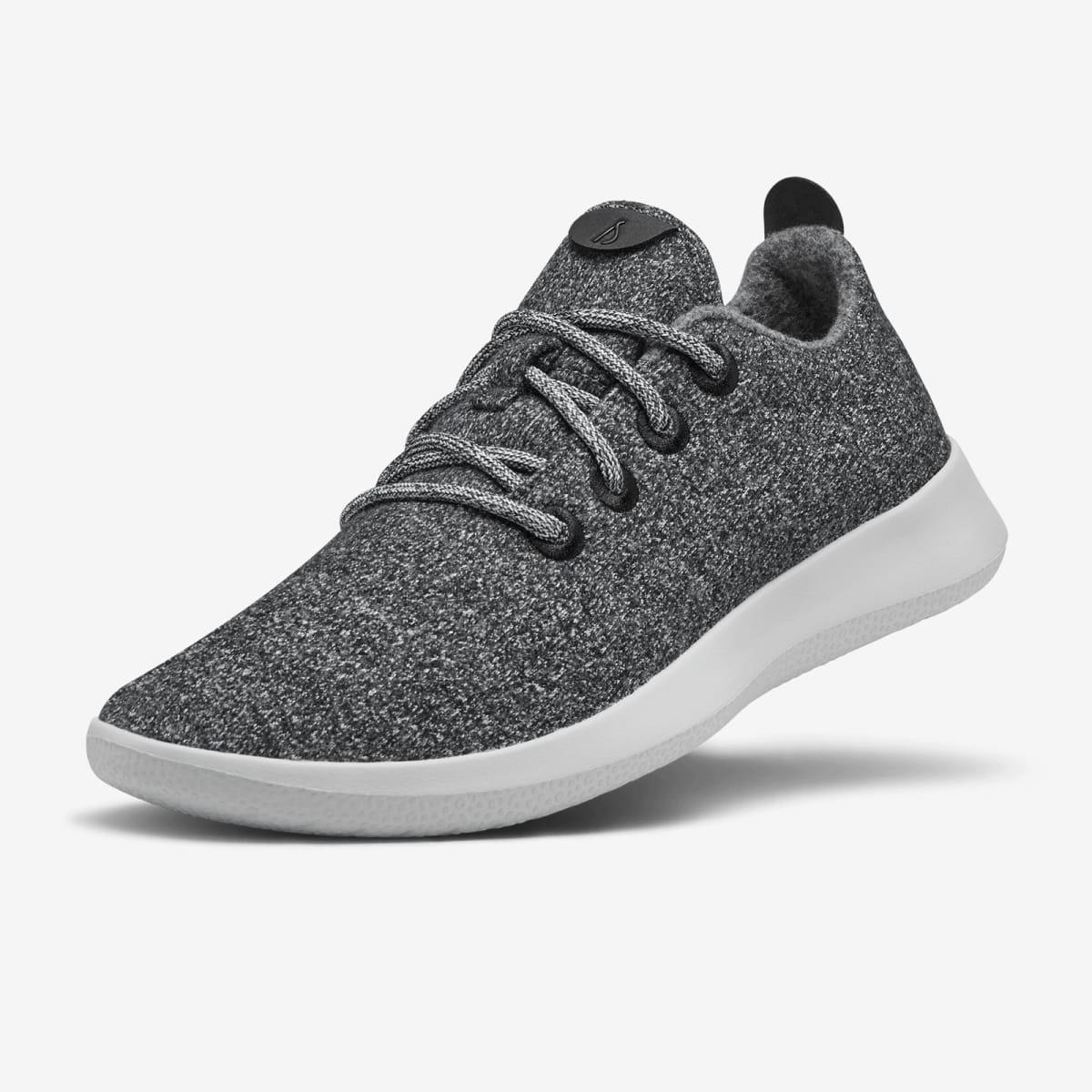 Men's Wool Runners - Natural Grey (Light Grey Sole)