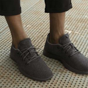 Men's Wool Runners - Natural Black